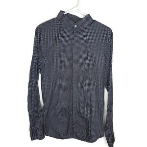 Express Men's mens mens' Fitted black button down